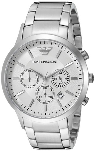 Emporio Armani Sportivo AR2458 Silver 43mm Men's Watch