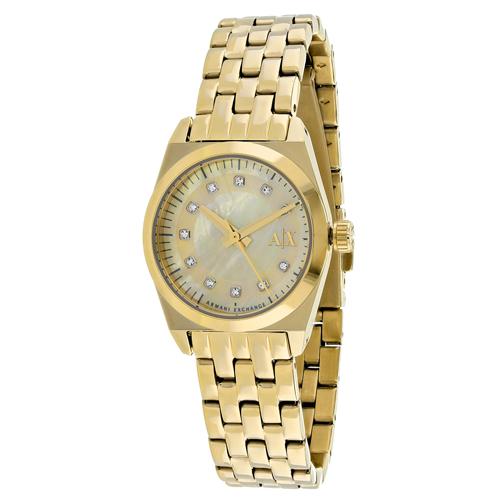 Armani Exchange Miss Jackson  Gold Mop Women's Watch AX5331