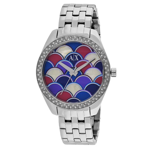 Armani Exchange Serena  Multi-Colored Mosaic Women's Watch AX5526