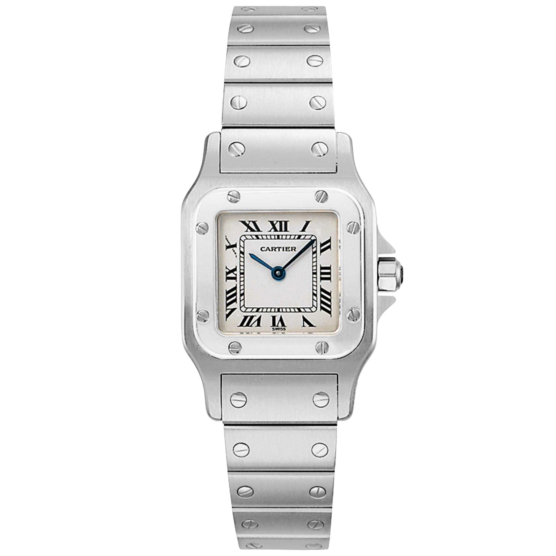 Cartier Santos White Women's Watch W20056D6