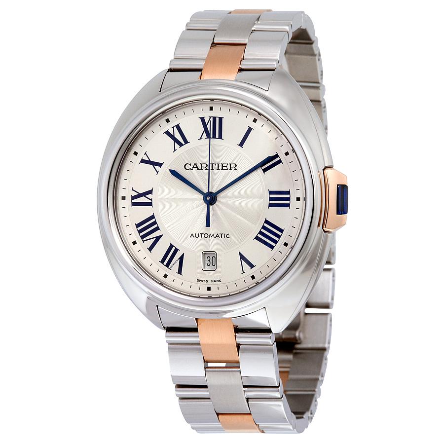 Cartier Cle De Cartier Silver Men's Watch W2CL0002