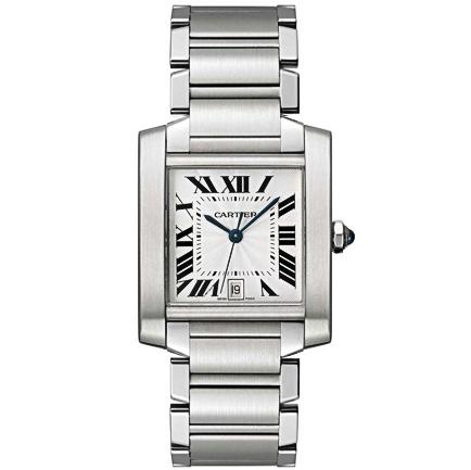 Cartier Tank White Men's Watch W51002Q3