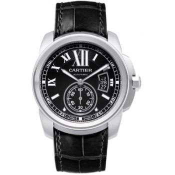 Cartier Calibre Black Men's Watch W7100041