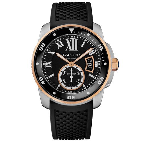 Cartier Calibre De Cartier Black Men's Watch W7100055