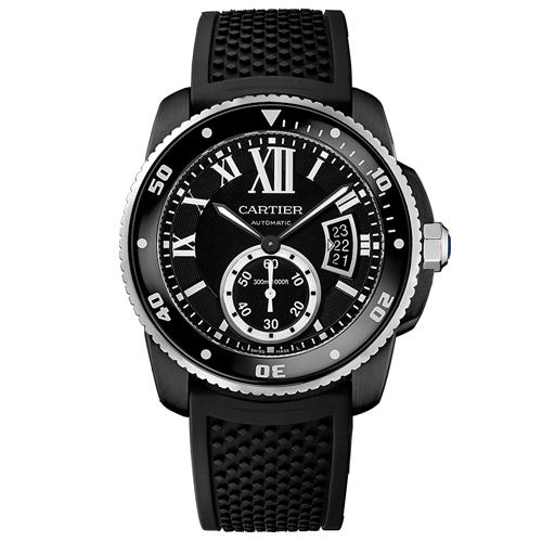 Cartier Calibre De Cartier Black Men's Watch WSCA0006