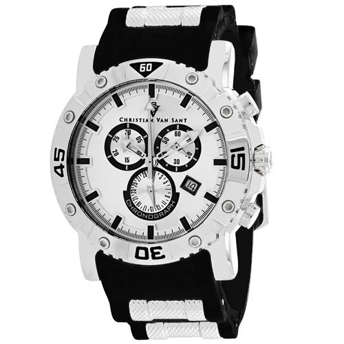 Christian Van Sant Cosenza Silver Men's Watch CV0515