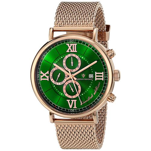 Christian Van Sant Somptueuse Limited Edition Green Men's Watch CV1130