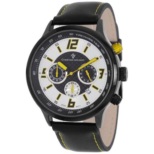 Christian Van Sant Speedway Silver/Yellow Men's Watch CV3120