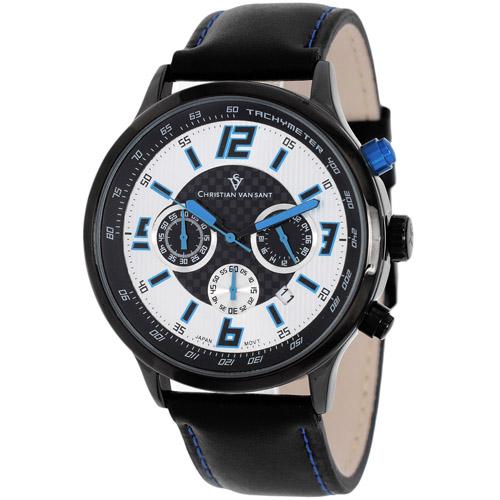 Christian Van Sant Speedway Silver/Blue Men's Watch CV3121