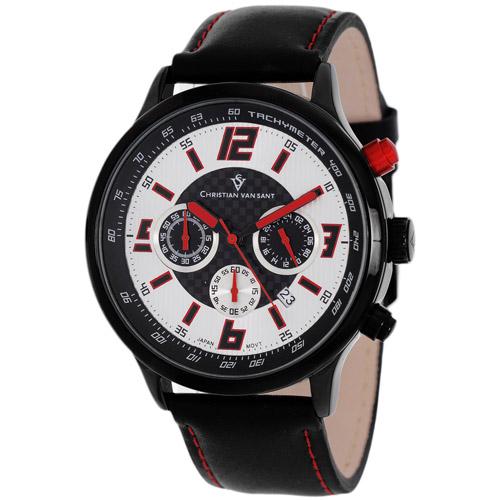 Christian Van Sant Speedway Silver/Red Men's Watch CV3122