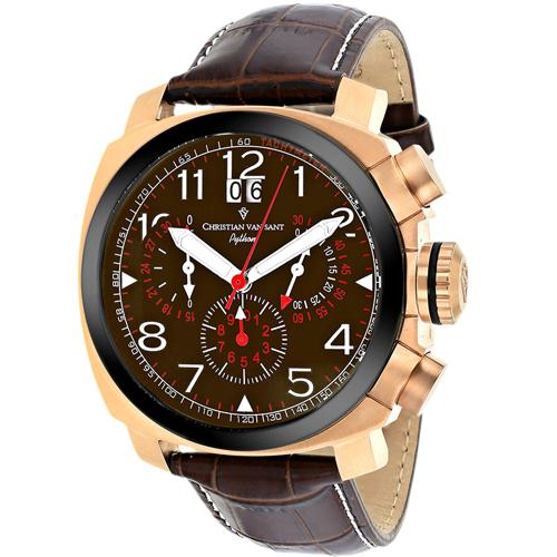 Christian Van Sant Grand Python Brown Men's Watch CV3AU4