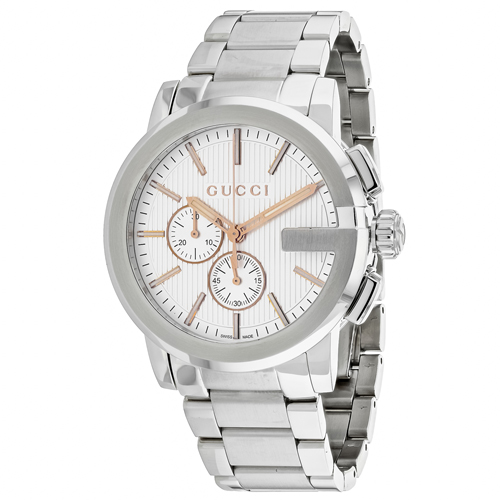 Gucci G-Chrono Silver Men's Watch YA101201