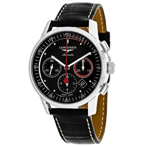 Longines Heritage Black Men's Watch L47544524