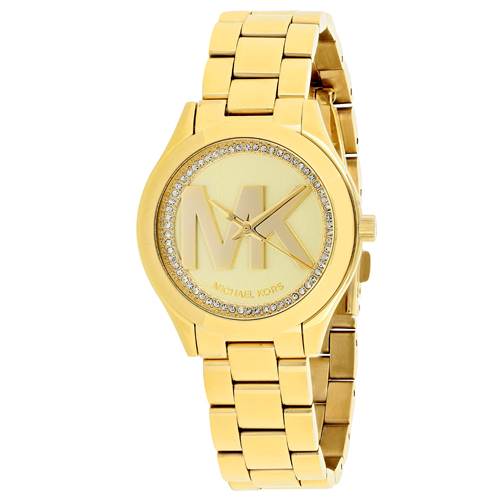 Michael Kors Mini slim runway Gold Women's Watch MK3477