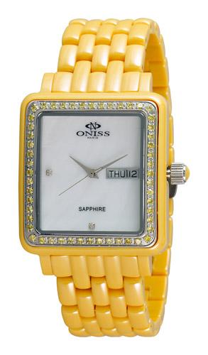 Oniss Rectangular On7700-L-Y-W-Y Women's Watch