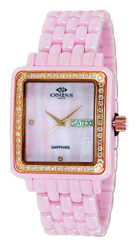 Oniss Rectangular On7700-Lrg-P-P-W Women's Watch