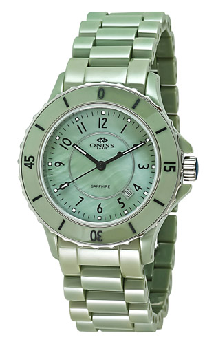 Oniss Ceramica On8043-L-Gn-Gn Women's Watch