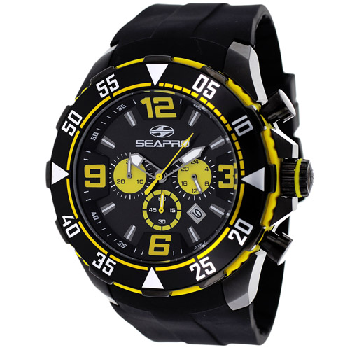 Seapro Diver Black And Yellow Tone Men's Watch SP1124