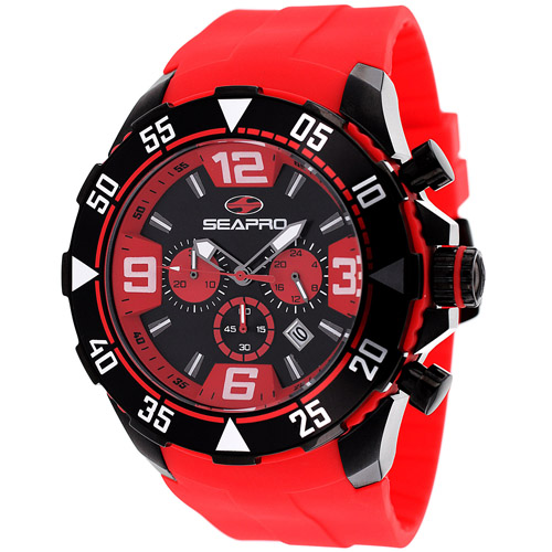 Seapro Diver Black And Red Tone Men's Watch SP1127