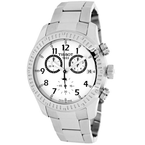 Tissot V8 Chonograph Silver Men's Watch T0394171103700